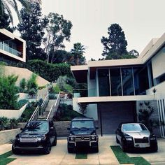 I'll take the cars they can keep the house... If only they were in front of a home