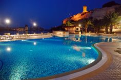 Outdoor pool in the evening #hotel #Malta #summer