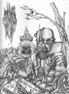 "Echa un vistazo a mi proyecto @Behance: ""the knight, death and the devil."" https://www.behance.net/gallery/61178287/the-knight-death-and-the-devil"