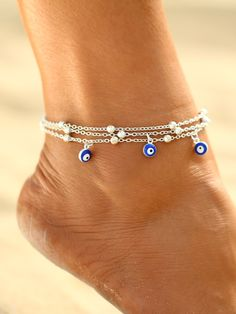 2 Style Turkish Eyes Beads Anklets For Women 2017 Sandals Pulseras Tobilleras Mujer Pendant Anklet Bracelet Foot Jewelry Jewelry Sets, Jewelry Accessories, Body Jewelry, Turkish Eye, Ankle Jewelry, Feet Jewelry, Layered Chains, Beaded Anklets, Gold Anklet