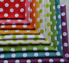 Fat Quarter Bundle /Medium Polka Dots//9 by RunnStitch on Etsy