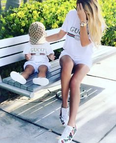 Mother Daughter Matching Outfits, Mommy And Me Outfits, Matching Family Outfits, Matching Clothes, Gucci Baby Clothes, Cute Baby Clothes, Baby Boy Fashion, Kids Fashion, Mommy And Son