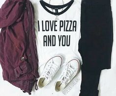 I love pizza and you Outfits Niños, Fall Outfits, Kids Outfits, Casual Outfits, Teenage Outfits, Outfits For Teens For School, Dresses For Teens, Fresh Tops, I Love Pizza