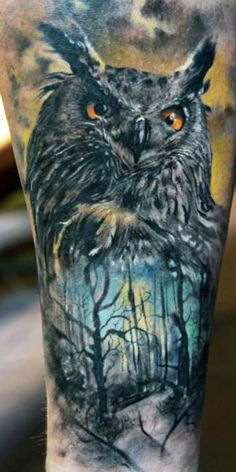 Owl 3D Tattoo