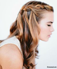 Waterfall braid #hair