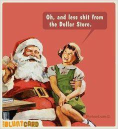 Cheapskate Santa.