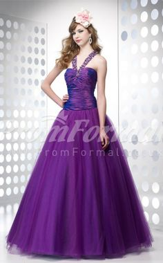 One Shoulder Ball Gown  long prom dresses,purple prom dresses,ball gown dresses