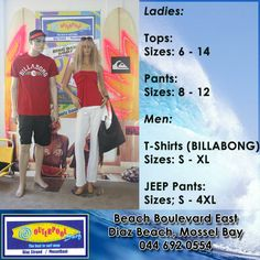 We have beautiful red tops for the ladies in store and for the men we have Billabong T-Shirts. #tops #billabong #tshirts