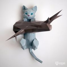 Origami DIY Kits to Help You Master the Ancient Art of Paper-Folding 3d Origami, Chat Origami, Useful Origami, Origami Paper, Origami Models, Origami Folding, Oragami, Diy Paper, Paper Art Projects