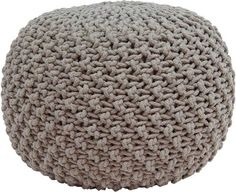 The Marina Pouf - Linen from Urban Barn is a unique home decor item. Urban Barn carries a variety of Poufs and other products furnishings. Unique Home Decor, Home Decor Items, Contemporary Furniture Stores, Modern Furniture, Knitted Pouf, Urban Barn, Pillow Room, Pouf Ottoman, Floor Cushions