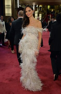 Georgina Chapman chose @Harpreet Singh Winston diamonds for her red carpet moment at the Academy Awards 2014