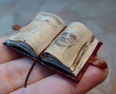 Miniature Leonardo de Vinci Open Book Vitruvian Man