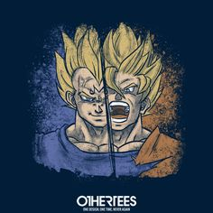 """""""Epic Battle!"""" by Valentinaocchiblu T-shirts, Tank Tops, Sweatshirts and Hoodies are on sale until 3rd December at www.OtherTees.com Pin it for a chance at a FREE TEE #dragonball #dragonballz #songohan #goku #othertees #anime #manga"""