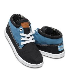 Another great find on #zulily! Blue & Black Block Canvas Botas - Youth #zulilyfinds