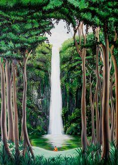 Yolima Venegas ORIGINAL Primer cuadro en el taller, la magia  de un rincón de su tierra natal, Colombia, óleo 50x70 cms (pintura original, inspirada en fotografía)