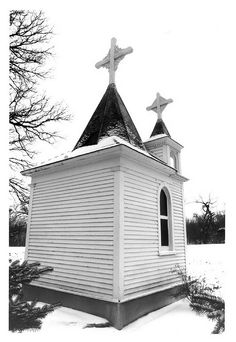 Walsh County, North Dakota...the littlest church....many many road trips by this place