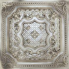 """Decorative Ceiling Tiles, Inc. Store - Elizabethan Shield - Faux Tin Ceiling Tile - 24""""x24"""" -"""
