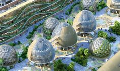 green sustainable architecture biomimetic design vincent callebaut tour and taxis #futuristicarchitecture