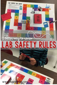 Teach elementary school, middle school, and high school students the importance of science lab safety rules and procedures. Students can play a game t. Lab Safety Rules, Science Lab Safety, Stem Science, Science Experiments Kids, Science Lessons, Science Activities, Life Science, Science Chemistry, Lab Safety Activities