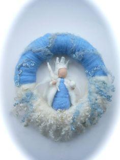König Winter Kranz. Nadel Filz. Waldorf.Wool.snow von FilzArts