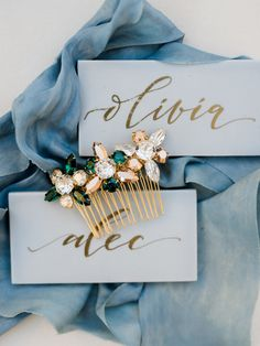 Wedding Hair Accessories: Stunning Crystal Hair Combs for Winter Weddings | Brides.com