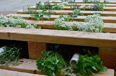 jardinière en palette de bois - système de drainage