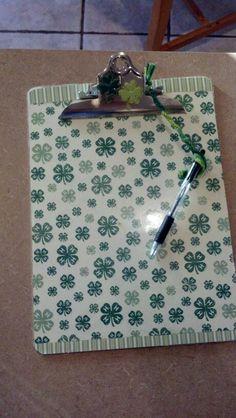 Scrapbook paper and clipboard. 4h