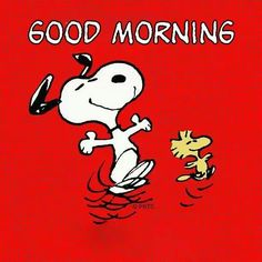 Good Morning!   --Peanuts Gang/Snoopy & Woodstock