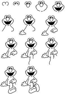 how to draw Elmo - Impress a toddler!