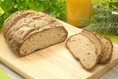 The potato fiber flax seed bread tastes very tasty, fluffy and has a pleasant crust. The bread is also low carb and gluten free. Lowest Carb Bread Recipe, Low Carb Bread, Keto Bread, Low Carb Keto, Healthy Bread Recipes, Low Carb Recipes, Paleo Dessert, Dessert Recipes, Lchf