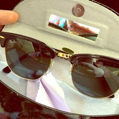 Black authentic Ray-Ban Clubmaster sunglasses  Like new. Comes with dustcloth and hard case I have kept them in, not Ray-Ban case. Ray-Ban Accessories Sunglasses