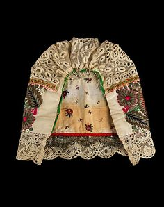 Cap.  Date: third quarter 19th century. Culture: Slovak. Medium: cotton, metal. Dimensions: 10 x 11 in. (25.4 x 27.9 cm).