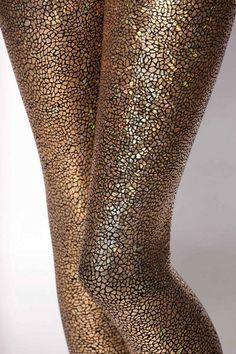 Shattered Glass Gold Leggings, $80AUD