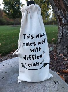 Wine Bag - Your Suggestions About Wine Is Available Down Below Wine Gifts, Gag Gifts, Hostess Gifts, Craft Gifts, Housewarming Gifts, Food Gifts, Wine Gift Baskets, Basket Gift, Christmas Hanukkah