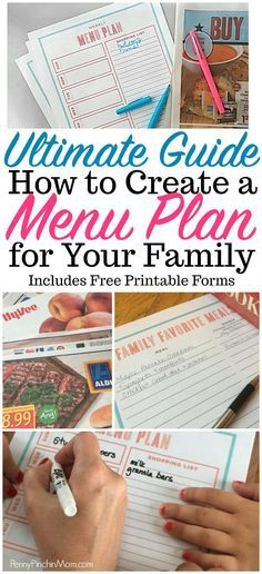 Menu Planning menu planning printables | menu planner | menu planning on a budget | how to menu plan | menu plan template | menu plan for beginners | menu plan for your family via @PennyPinchinMom