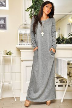 длинное трикотажное платье - Поиск в Google