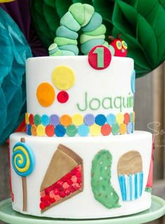 Kids' Caterpillar Birthday Cake