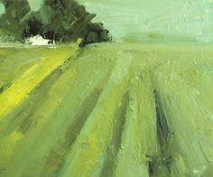 white barn, painting by artist parastoo ganjei Landscape Art, Landscape Paintings, Abstract Paintings, Abstract Art, Illustrations, Illustration Art, Madrid, White Barn, Oeuvre D'art