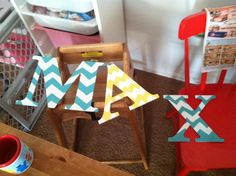 Letters for a sign for dear friends beautiful baby boys room ( I like doing custom letters)