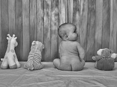 baby and friends :) heehee look at that chubby booty!