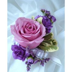 Corsage rose lavender purple.PNG ❤ liked on Polyvore featuring backgrounds