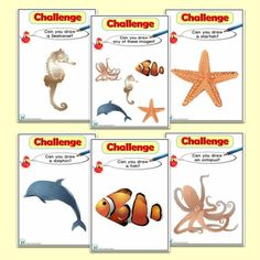 Unter dem Meer / Sealife / Shipwreck Resources - Happy Learners Resources Under the Sea / Sealife / Shipwreck Resources - Happy Learners Resources, Computing Display, Aquarium, Early Years Classroom, Teaching Activities, Teaching Ideas, Book Labels, Learning Cards, Fish Drawings, Fish Print