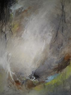 The Whisper. Acrylic, pencil and oil pastel on paper. www.christinescurr.com