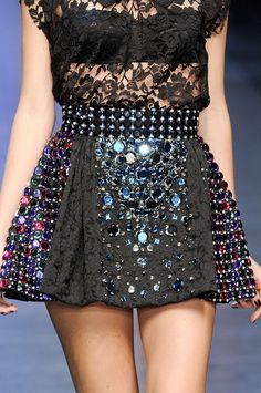 Dolce & Gabbana at Milan Spring 2012 (Details)