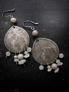 Polaris salvaged tribal earrings vintage by sparrowsalvage