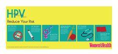 Infografía salud de la mujer. Virus del papiloma humano.(HPV)