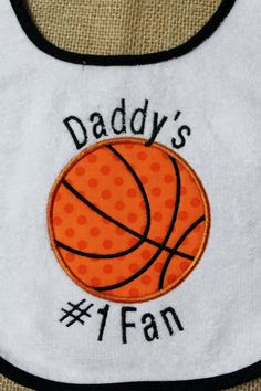 Custom Listing for Amy - Bib and Bodysuit with Basketball Theme-Daddy's #1 Fan and My Daddy is the Best Coach