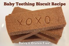 Gluten Free Baby Teething Biscuit Recipe - http://aLittleInsanity.com