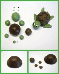 I'm pinning this because it reminds me of a special someone who has an obsession with turtles... Lupe Sandoval!  DIY Cute Polymer Clay Turtle DIY Cute Polymer Clay Turtle