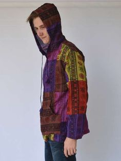Looking for men's hippie shirts online? Shop at Himalayan Handmades & get free delivery when you buy this ethnic printed men's hoodie shirt Hippie Clothes Online, Hippie Clothing Stores, Online Clothing Stores, Mens Hippie Shirts, Hippie Tops, Ethnic Print, Hippie Outfits, Summer Outfits, Hoodies
